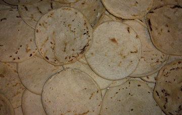 flour tortillas in a pile made without high fructose corn syrup