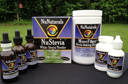NuNaturals.com NuStevia Sweetener product line
