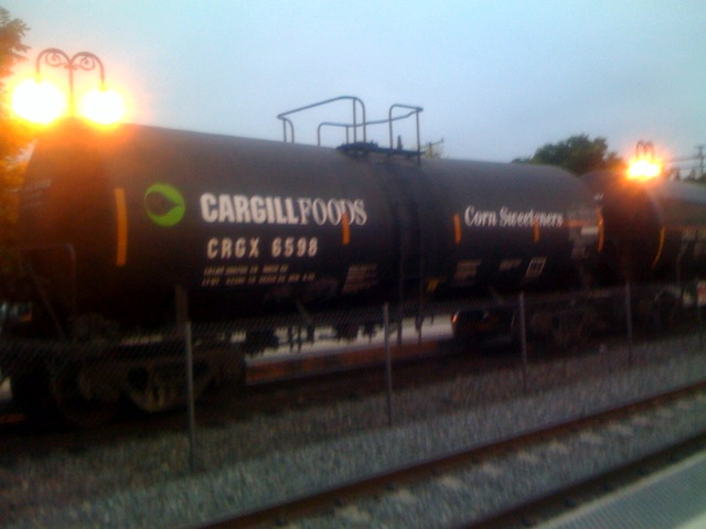 train car of high fructose corn syrup